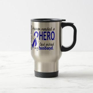 Le ciel a eu besoin d'un mari de cancer du colon mug de voyage en acier inoxydable