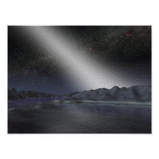 Le ciel nocturne d'une planète étrangère photo d'art