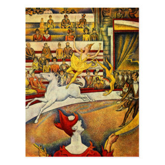 Le Cirque ( The Circus ) by Georges Seurat Postcard