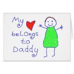 Le coeur appartient au papa carte de vœux