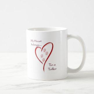 Le coeur de tintement de chien d'arrêt de canard d mugs à café