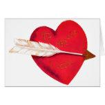 Le coeur démodé de Valentine Carte De Vœux