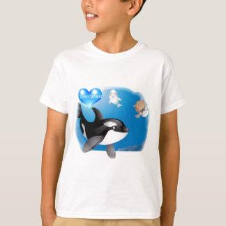 Le coeur d'orque (épaulard) I conçoit Tee-shirts