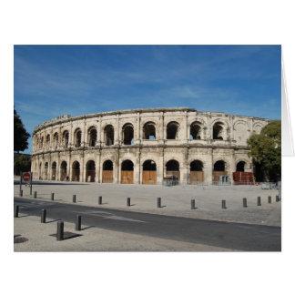 Le Colisé romain Nîmes Carte De Vœux Grand Format