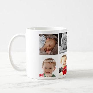Le collage de photo font votre propre do-it-yourse mug blanc