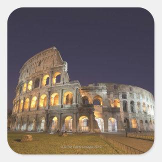 Le Colosseum ou le Colisé romain, à l'origine Sticker Carré