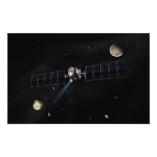 Le concept de l'artiste du vaisseau spatial d'aube photographie d'art
