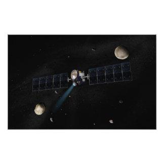 Le concept de l'artiste du vaisseau spatial d'aube  tirage photo