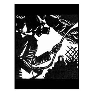 Le Conquerant Danse Macabre postcard