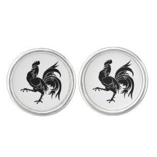 Le coq noir The Black Rooster Cuff Links