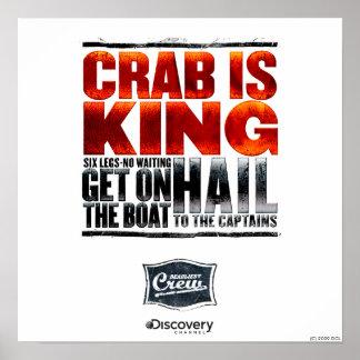 Le crabe est le Roi Poster