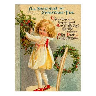 Le cru badine des cartes postales de Noël