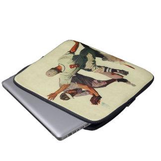 Le cru folâtre des joueurs de baseball glissant housses ordinateur portable