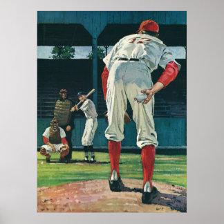 Le cru folâtre le broc de joueurs de baseball sur