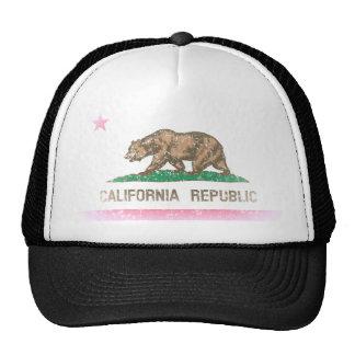 Le cru se fanent drapeau de République de la Calif Casquette Trucker