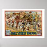 Le cru vend l'affiche 1921 de défilé de cirque de