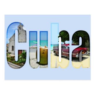 Le Cuba avec différentes scènes dans les lettres Carte Postale