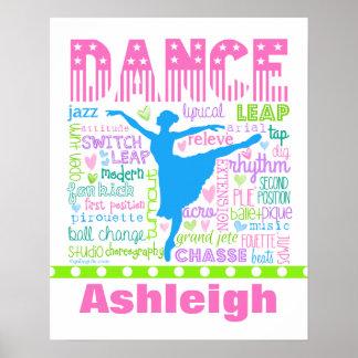 Le danseur en pastel personnalisé exprime la poster