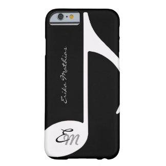 le ~ de note musicale ajoutent l'initiale coque iPhone 6 barely there