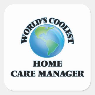 Le directeur de soin à domicile le plus frais du sticker carré