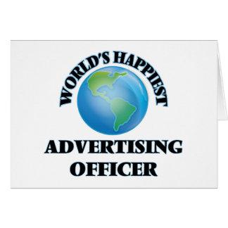 Le dirigeant de la publicité le plus heureux du carte de correspondance