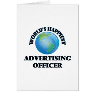 Le dirigeant de la publicité le plus heureux du carte de vœux