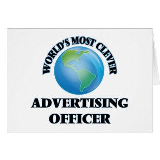 Le dirigeant de la publicité le plus intelligent carte de correspondance