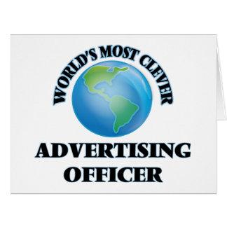 Le dirigeant de la publicité le plus intelligent carte de vœux grand format