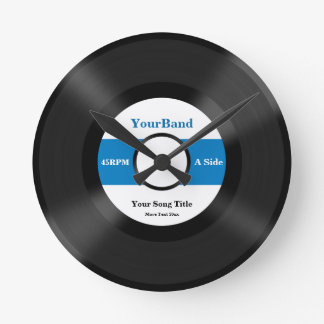 Le disque de coutume personnalisent horloge ronde
