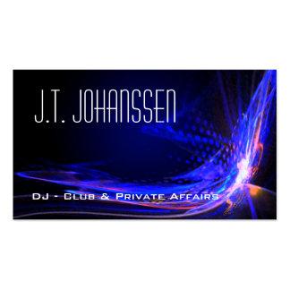 Le DJ - Colorez les cartes de visite standard noir Carte De Visite Standard
