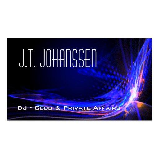 Le DJ - Colorez les cartes de visite standard noir Carte De Visite
