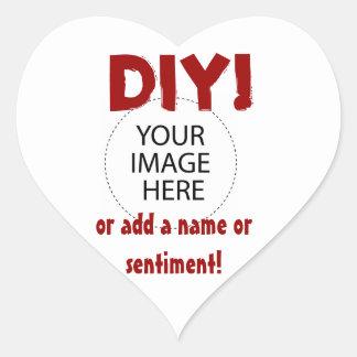 Le do-it-yourself conçoivent votre propre article autocollant en cœur