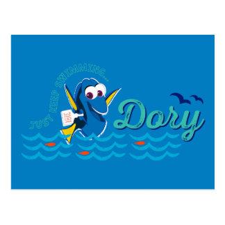 Le doris | continuent juste la natation carte postale