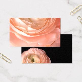 le double assez rose de carte de visite de fleur a