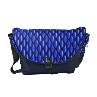 Le dragon bleu mesure le sac messenger besaces