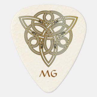 Le dragon décoré d'un monogramme d'or a dirigé la onglet de guitare
