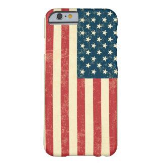 Le drapeau américain âgé s'est fané coque iPhone 6 barely there