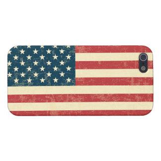 Le drapeau américain âgé s'est fané iPhone 5 case