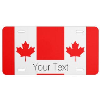 Le drapeau canadien, Canada Plaque D'immatriculation