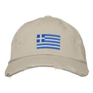 Le drapeau de la Grèce a brodé le casquette de ser Casquettes De Baseball Brodées