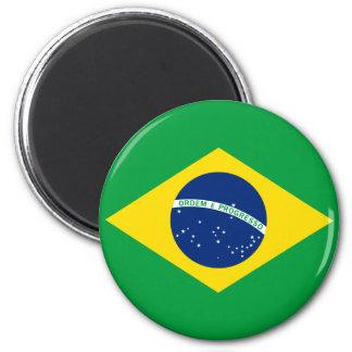 Le drapeau du Brésil Magnet Rond 8 Cm