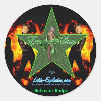 LE Emerald Star Behavior Stickers