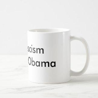 Le fascisme de fin attaquent Obama Mug Blanc