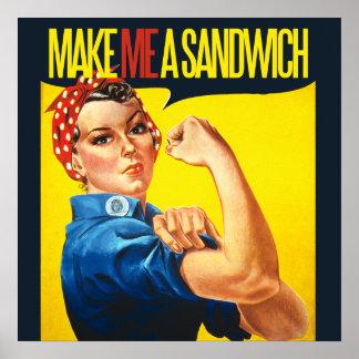 Le féministe me font un sandwich poster