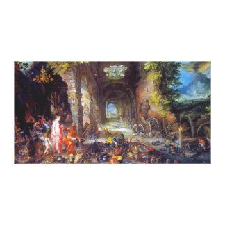 Le feu avant janvier Brueghel l aîné Impressions Sur Toile