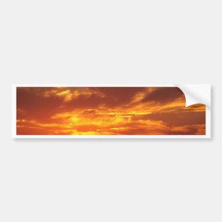 Le feu de coucher du soleil autocollant de voiture