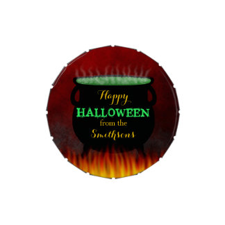 Le feu heureux de chaudron de Halloween Boite Jelly Belly
