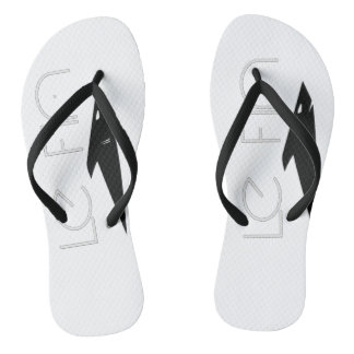Le Fin flip flop white and black