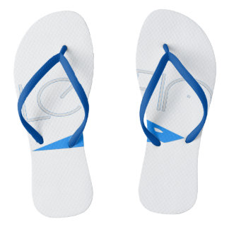 Le Fin white and blue flip flop