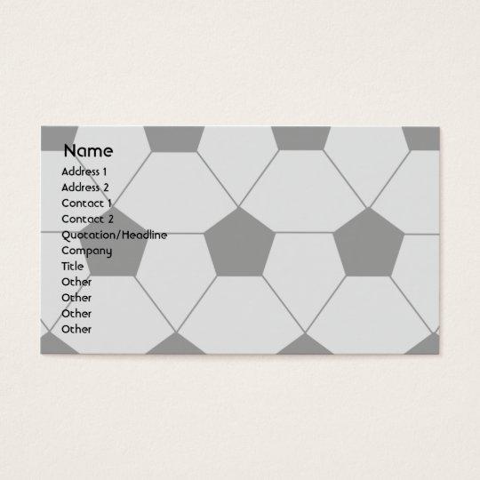 Le football - affaires cartes de visite